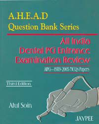 AHEAD Question Bank Series All india Dental PG Entrance Examination Review
