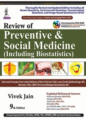 Review of Preventive and Social Medicine (Including Biostatistics) with free interactive DVD-ROM