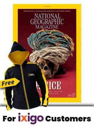 NATIONAL GEOGRAPHIC MAGAZINE 1 YR SUBSCRIPTION + FREE FLEECE JACKET WITH HOODIE