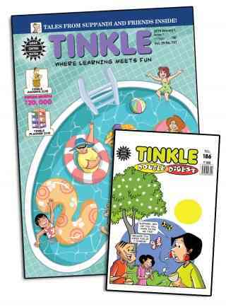 TINKLE MAGAZINE + TINKLE DOUBLE DIGEST 1 YEAR COMBO SUBSCRIPTION + FREE STATIONARY KIT